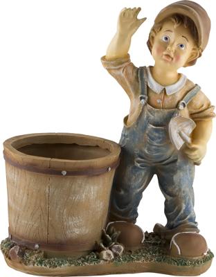 цена на Фигурка садовая Park кашпо Мальчик с совочком Н-45см 169344