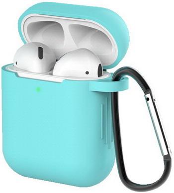 Фото - Чехол для наушников Eva для Apple AirPods 1/2 с карабином - Бирюзовый (CBAP40TQ) сифон для душевого поддона unicorn easyopen с латунным выпуском 1 1 2 d40 с отводом g311e