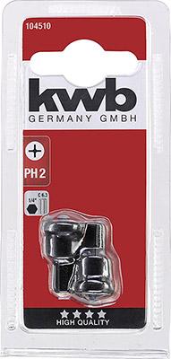 Бита Kwb с ограничителем PH2 25мм 2шт 104510