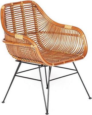 Кресло Tetchair Secret De Maison Pitaya (mod 01 5089 SP KD/1-1) натуральный ротанг/металл светлый мед/черный 11862