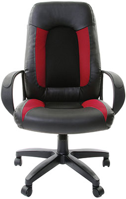 Кресло Brabix, ''Strike EX-525'' экокожа черная ткань черная/бордовая TW 531379, Россия  - купить со скидкой