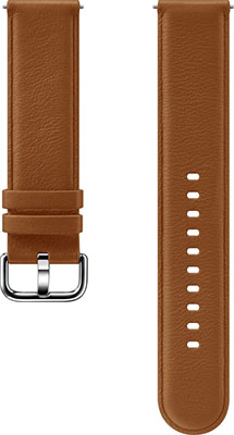 Кожаный ремешок Samsung Leather Band для Galaxy Watch Active/Active2 коричневый (ET-SLR82MAEGRU)