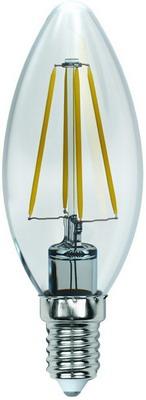 Лампа Uniel LED-C35-13W/3000K/E14/CL PLS02WH Форма ''свеча'' прозрачная (300