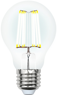 Лампа светодиодная Uniel LED-A60-12W/3000K/E27/CL PLS02WH Форма ''A'' прозрачная (3000K) 004866