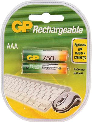 Комплект аккумуляторов GP АAА (LR03) 2 шт. (75AAAHC-2DCR2) GP 75AAAHC-2DECRC2 20/200
