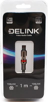 Кабель Delink TOSLINK-TOSLINK Metall Grey 1 0м оптоволоконный кабель toslink вилка toslink orient c813 длина 2 0м пакет