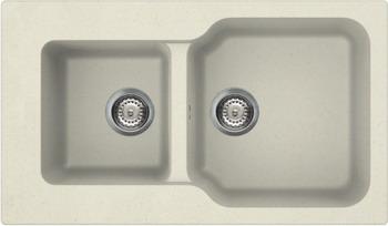 Кухонная мойка Omoikiri, Maru 86-2-BE Tetogranit/ваниль (4993285), Италия  - купить со скидкой