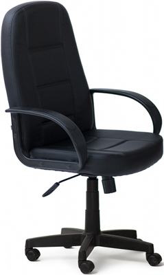 Кресло Tetchair СН747 (кож/зам Черный PU-C 36-6) кресло tetchair twister кож зам черный синий pu c 36 6 pu c 36 39