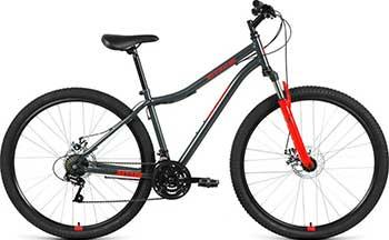 Велосипед Altair MTB HT 29 2.0 disc (29'' 21 ск. рост 21'') 2020-2021 темно-серый/красный RBKT1MN9Q008