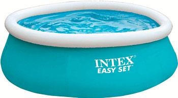 Надувной бассейн для купания Intex Easy Set 183х51см 886л 28101 надувной бассейн для купания intex easy set самолеты 183х51 см
