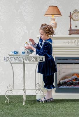 Костюм театральный ХоумАпплайнс рост 128 синий водолазка для девочки nota bene цвет молочный cjr27035 17 размер 128
