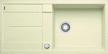 Кухонная мойка BLANCO METRA XL 6 S-F жасмин с клапаном-автоматом кухонная мойка blanco metra 6 s f белый с клапаном автоматом