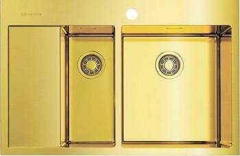 Кухонная мойка Omoikiri Akisame 78-2-LG-R светлое золото (4973088) мойка кухонная omoikiri akisame 78 lg r 780 510 светлое золото 4973086