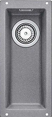 Кухонная мойка Blanco 523398 SUBLINE 160-U SILGRANIT алюметаллик c отв.арм. InFino