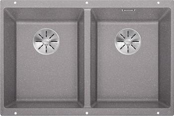 Кухонная мойка BLANCO SUBLINE 350/350-U SILGRANIT алюметаллик с отв.арм. InFino 523576 кухонная мойка blanco subline 700 u level silgranit алюметаллик с отв арм infino 523540