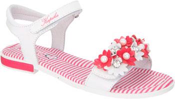 Туфли открытые Kapika 33199-2 34 размер цвет белый/коралловый