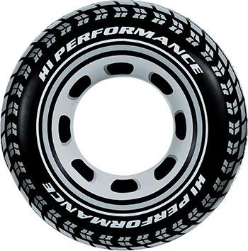 Надувной круг Intex 91см ''Шина'' от 9 лет 59252 цена