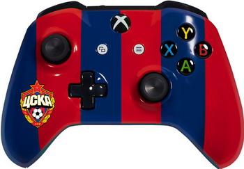 Геймпад Microsoft Xbox One ЦСКА - Красно-синий игровая приставка microsoft xbox 360 minecraft forza horizon 2