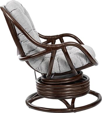 Кресло-качалка RattanDesign KARA МИ с подушкой JC-3021 цвет Орех цена