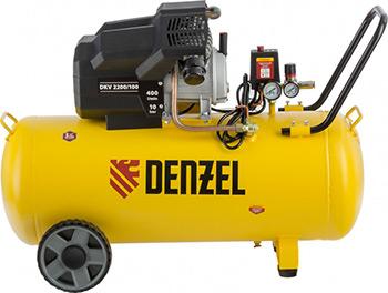 Компрессор DENZEL DKV 2200/100Х-PRO 58079 компрессор denzel рс 1 6 180 1100вт 180л мин 6л
