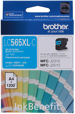 Фото - Картридж Brother LC 565 XLC голубой брюки lc waikiki lc waikiki mp002xw1f00t