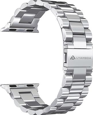 Ремешок для часов Lyambda из нержавеющей стали для Apple Watch 42/44 mm KEID DS-APG-02-44-SL Silver ремешок для часов lyambda для apple watch 42 44 mm libertas ds apg 06 44 bk black