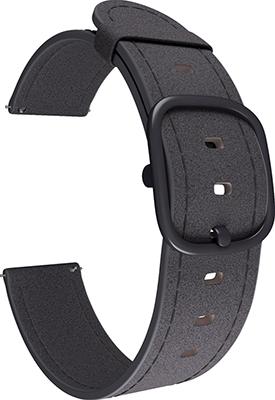 Ремешок для часов Lyambda универсальный для часов 20 mm MINKAR DSP-03-20 Black ремешок для часов lyambda для apple watch 42 44 mm minkar dsp 10 44 black