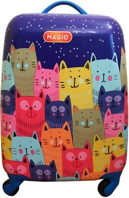 Чемодан MAGIO Веселые коты разноцветный 158 цена в Москве и Питере