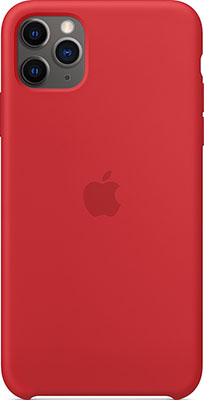 Чехол силиконовый Apple Silicone Case для iPhone 11 Pro Max (PRODUCT)RED MWYV2ZM/A