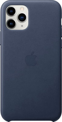 Чехол (клип-кейс) Apple iPhone 11 Pro Leather Case - Midnight Blue MWYG2ZM/A