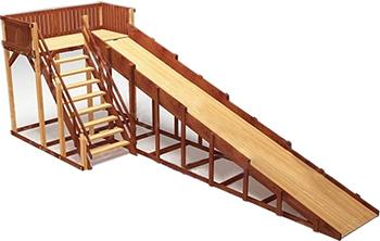 Зимняя деревянная игровая горка Савушка, Зима-6 СЗ-06, Россия  - купить со скидкой