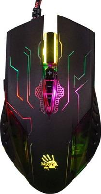 Фото - Мышь игровая проводная A4Tech Bloody Q51 черный/рисунок мышь проводная a4tech bloody a90 blazing чёрный usb