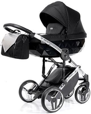 коляски 2 в 1 Коляска детская 2 в 1 Junama ONEX JON-01 (черный/серебро/рама серебро) JON-01