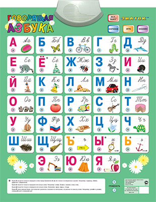 Электронный звуковой плакат Знаток ''Говорящая АЗБУКА'' (4 режима) 70088 балуева оксана азбука для мальчиков
