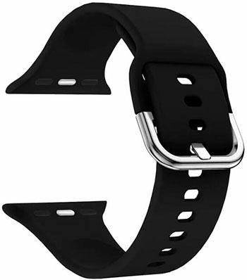 Силиконовый ремешок Lyambda для Apple Watch 38/40 mm AVIOR DSJ-17-40-BK Black цена 2017