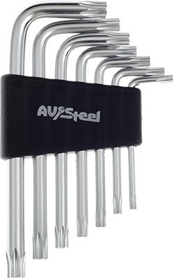 Фото - Набор ключей AV Steel Г-образных TORX T10-T40 7 предм. AV-367107 7 quality steel pliers electrical repair tool