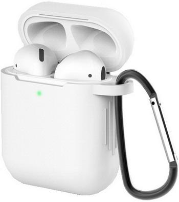 Фото - Чехол для наушников Eva для Apple AirPods 1/2 с карабином - Прозрачный (CBAP40TR) сифон для душевого поддона unicorn easyopen с латунным выпуском 1 1 2 d40 с отводом g311e
