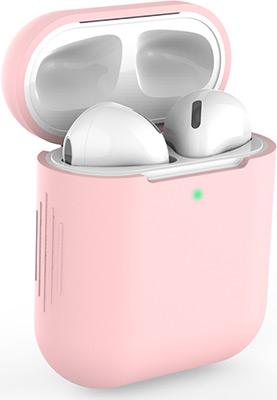 Фото - Чехол силиконовый Eva для наушников Apple AirPods 1/2 - Розовый (CBAP04P) браслет розовый кварц 17 см биж сплав