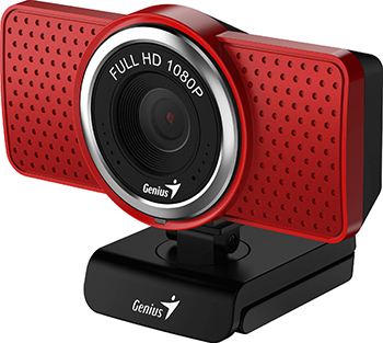 Фото - Web-камера для компьютеров Genius ECam 8000 red Full-HD 1080p USB (32200001401) веб камера web microsoft lifecam studio usb for business 5wh 00002 черный