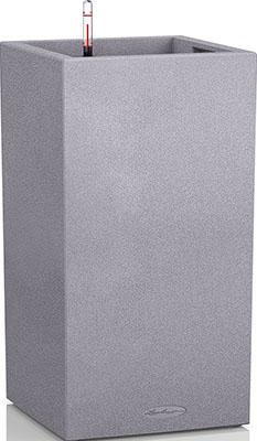 Фото - Напольное кашпо с автополивом Lechuza CANTO Stone 40 колонна с субстратом в комплекте пластик серое 29л 13620 кашпо lechuza canto 14см графит с автополивом