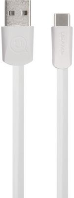 Фото - USB кабель Usams US-SJ200 U2 USB - Type-C плоский белый (SJ200TC02) жим от плеч верхняя тяга spirit fitness dws103 u2