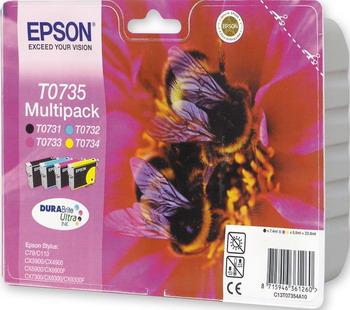 Фото - Набор картриджей Epson T 0735 C 13 T 10554 A 10 дефлектор капота artway daewoo gentra 13