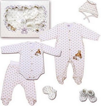 Комплект на выписку Мамуляндия 6 предметов боди для новорожденных мамуляндия мозаика цвет молочный 18 0701 размер 50