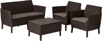 Комплект мебели Allibert Salemo коричневый 17206003