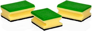 Губки кухонные Tescoma CLEAN KIT 3 шт. многофункциональные 900651 губки для посуды rozenbal многофункциональные натуральные цвет мультиколор 4 шт r148009
