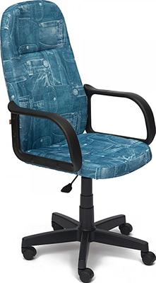 Офисное кресло Tetchair LEADER (ткань принт ''Джинса'')