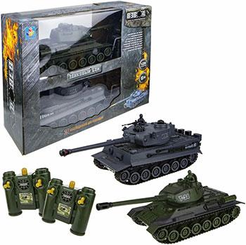 Танк 1 Toy Взвод танковый бой р/у (2 танка) 2 4 ГГц 1:28 (35 см)