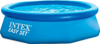 Надувной бассейн для купания Intex Easy Set 244х76см 2419л 28110 надувной бассейн для купания intex easy set самолеты 183х51 см