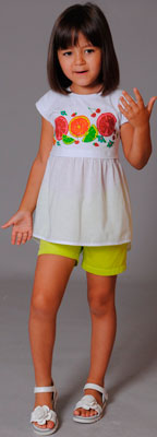 Туника Fleur de Vie Арт. 14-8572 рост 110 салат платье fleur de vie арт 14 7840 рост 92бежевый