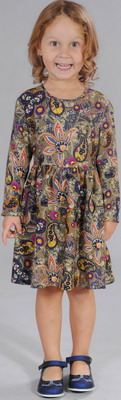 Платье Fleur de Vie 24-1480 рост 116 хаки цена и фото